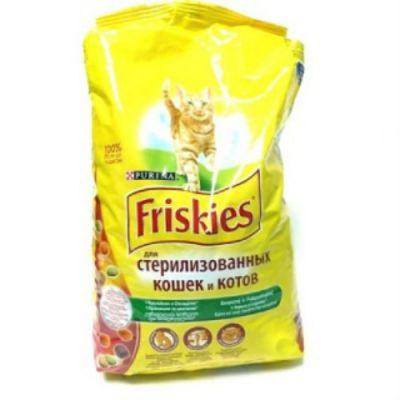 Сухой корм Friskies для стерилизованных кошек и кастрированных котов кролик/овощи 1,5кг (12274319)