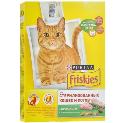 Сухой корм Friskies для стерилизованных кошек и кастрированных котов кролик/овощи 300г (12274331)