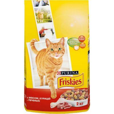 Сухой корм Friskies Adult для кошек мясо/печень/курица 2 кг (12053622)