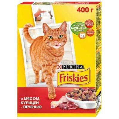 Сухой корм Friskies Adult для кошек мясо/печень/курица 400 г (12152612)