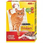 Сухой корм Friskies Adult для кошек мясо/печень/курица 400 г (12152612)