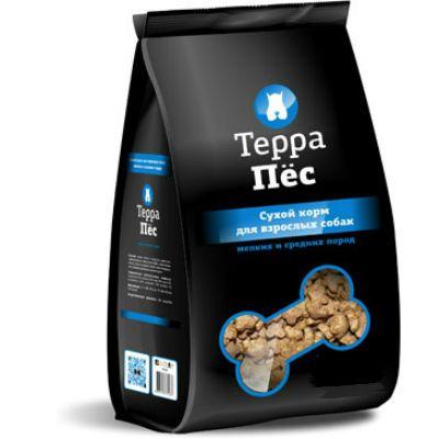 Сухой корм Терра Пес для взрослых собак мелких и средних пород упак.12 кг
