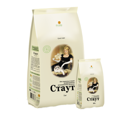 Сухой корм Стаут для взрослых кошек профилактика МКБ упак. 2кг