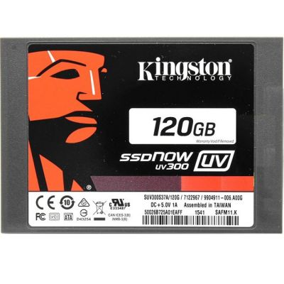 "������������� ���������� Kingston 120 Gb SATA 6Gb / s SSDNow UV300 Series 2.5"" TLC SUV300S37A/120G"