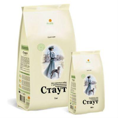 Сухой корм Стаут для взрослых собак с чувствительным пищеварением упак.15кг