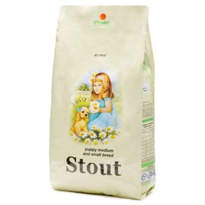 Сухой корм Стаут для щенков мелких и средних пород упак. 0,5кг