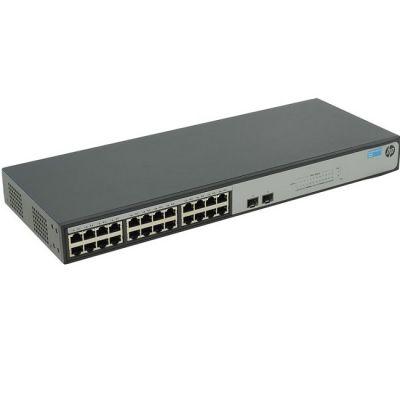 Коммутатор HP неуправляемый 19U 24x10, 100, 1000BASE-T 1420-24G-2SFP JH017A