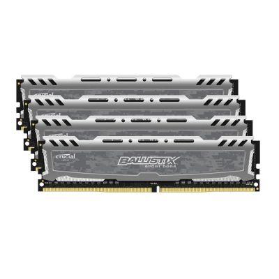 Оперативная память Crucial Ballistix Sport DDR4 2400 (PC 19200) DIMM 288 pin, 4x4 Гб, 1.2 В, CL 16 BLS4C4G4D240FSB