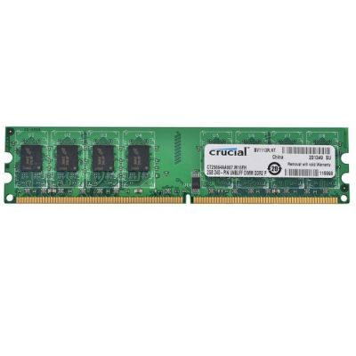 ����������� ������ Crucial DDR2 667 (PC2 5300) DIMM 240 pin, 1x2 ��, 1.8 �, CL 5 CT25664AA667