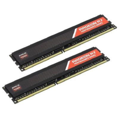 Оперативная память AMD DDR3 1866 (PC 15000) DIMM 240 pin, 2x4 Гб, 1.5 В, CL 9 R738G1869U1K
