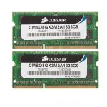 Оперативная память Corsair DDR3 1333 (PC 10600) SODIMM 204 pin, 2x4 Гб, 1.5 В, CL 9 CMSA8GX3M2A1333C9