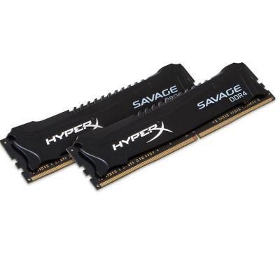 Оперативная память Kingston HyperX Savage DDR4 DIMM 16Gb KIT 2*8Gb < PC4 - 17000 > CL13 HX421C13SBK2/16
