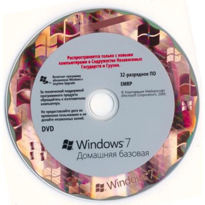 ����������� ����������� Microsoft Windows 7 Home Basic 32-bit oei (Rus) F2C-00201