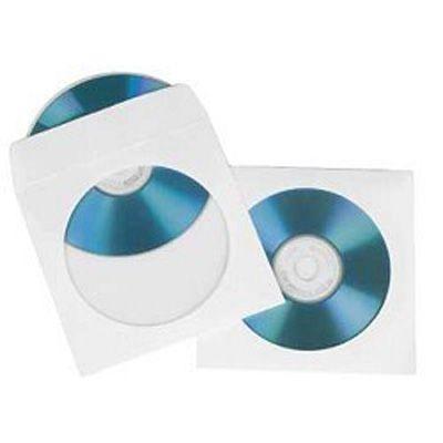 Hama Конверты для CD/DVD ,бумажные с прозрачным окошком 25 шт. белый H-51179