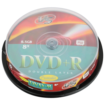 VS Диски DVD+R 8.5Gb 8х 10шт Cake Box Double VSDVDPRDLCB1002