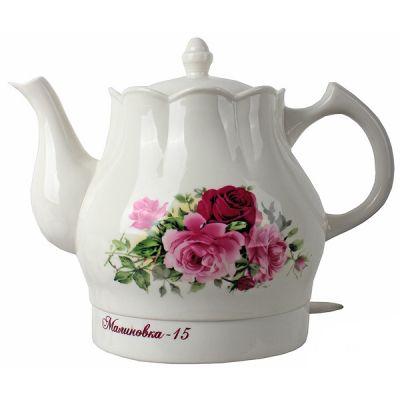 Электрический чайник Великие реки Малиновка-15 , красные розы