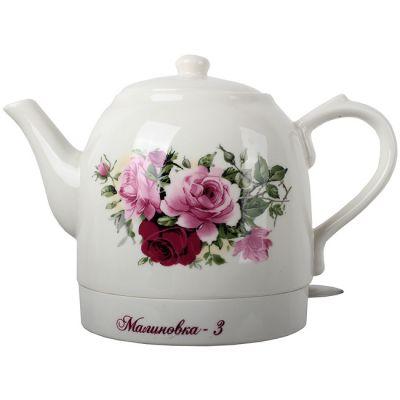 Электрический чайник Великие реки Малиновка-3 ,красная роза