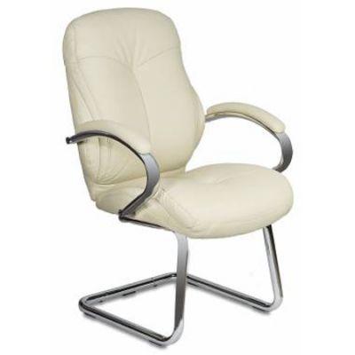 Офисное кресло Бюрократ посетителя/низкая спинка , слоновая кость Ivory T-9930AV/PU