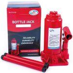 Домкрат AutoVirazh гидравлический 6 т бутылочный в коробке 2-х штоковый (красный)