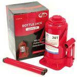Домкрат AutoVirazh гидравлический 20 т бутылочный в коробке (красный)