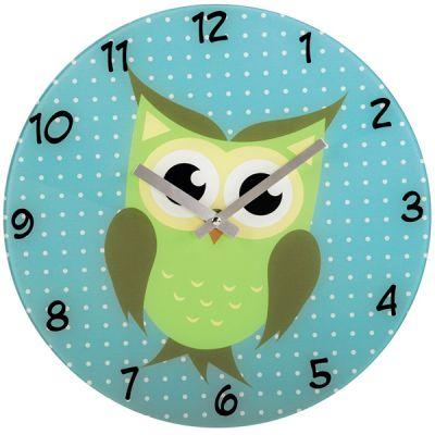 Настенные часы Hama аналоговые Owl голубой
