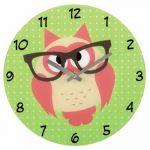 Настенные часы Hama аналоговые Owl зеленый