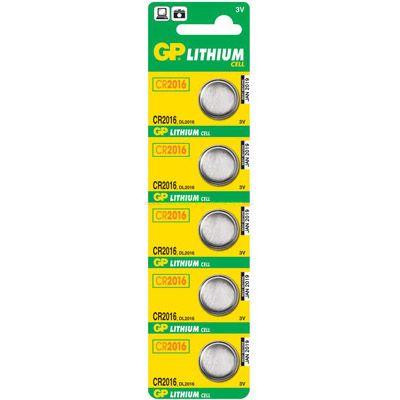 Батарейки GP Lithium CR2016 (5шт.уп.) CR2016-8C5