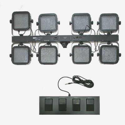 Involight LEDPAR (8х192 шт. RGB) на перекладине в кейсе+ножной контроллер и стойка SBL1008