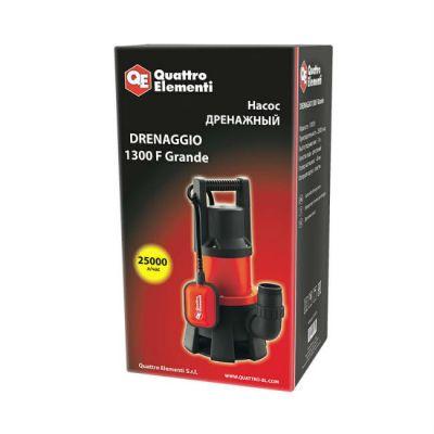 Насос Quattro Elementi дренажный Drenaggio 1300 F Grande (1300 Вт, 25000 л/час, грязевой, 11 м) 241-819