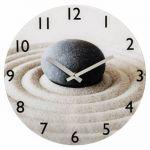 Настенные часы Hama аналоговые Sand with Stone бежевый