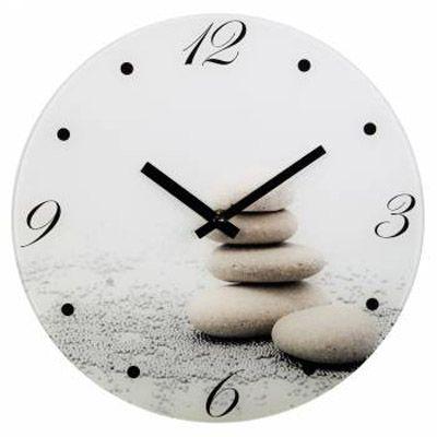 Настенные часы Hama аналоговые Stones серый