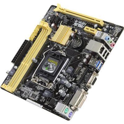 Материнская плата ASUS Soc-1150 Intel H81 2xDDR3 mATX AC`97 8ch(7.1) GbLAN+VGA+DVI H81M-R/C/SI