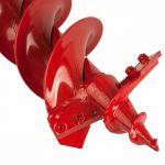 Шнек DDE двухзаходный для грунта мотобура (двухзаходный, ф = 100 мм, L = 800 мм) в компл.с ножами, красный DGA-100/800
