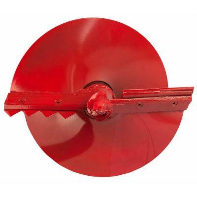 DDE Шнек двухзаходный для грунта мотобура (двухзаходный, ф = 200 мм, L = 800 мм) в компл.с ножами, красный DGA-200/800