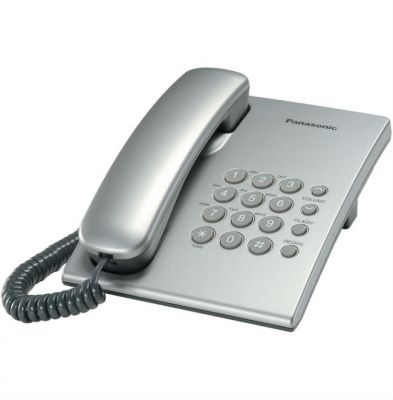 Телефон Panasonic проводной KX-TS2350RUS Серебристый