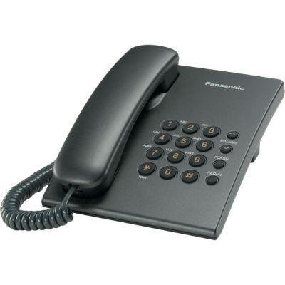 Телефон Panasonic проводной KX-TS2350RUT Темно-серый