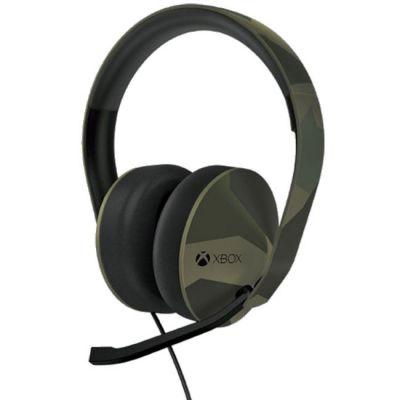 Гарнитура Microsoft проводная Xbox One stereo headset M90 Green Camo 5F4-00002