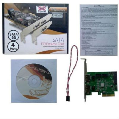 Контроллер Espada PCI-E 2.0, 4 порта SATA6G+ 2 порта eSATA, RAID, Hyper Duo FG-EST11B-1