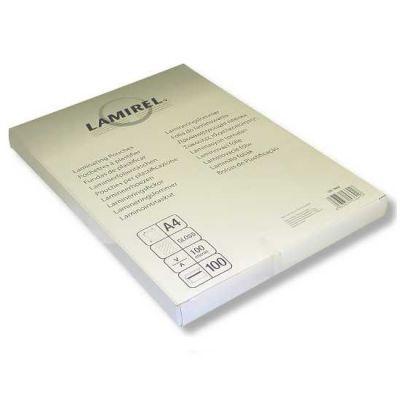 Расходный материал Fellowes Пленка для ламинирования 100мкм A4 (100шт) глянцевая Lamirel LA-7865801