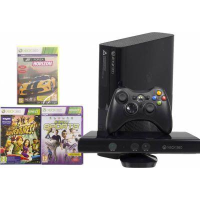 Игровая приставка Microsoft Xbox 360 4 GB Kinect + KA, FH, KS + Hard drive 500 GB N7V-00088-h2