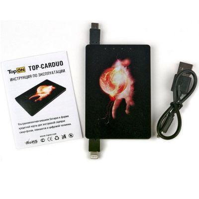 Портативный аккумулятор (Power Bank) TopON универсальный для телефонов, планшетов, цифровой техники на 1020 mAh TOP-CARDUO