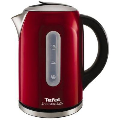 Электрический чайник Tefal KI 410 Thermovision Inox красный KI410530