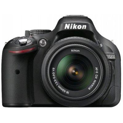 "Зеркальный фотоаппарат Nikon D5200 Black kit 24.1Mpix 18-140VR 3"" 1080p SDHC+ объектив EN-EL14 VBA350KR06"