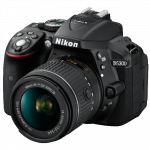 "���������� ����������� Nikon D5300 Black kit DX 18-55 VR AF-P 24.1Mp, 3"" WiFi, GPS VBA370K007"