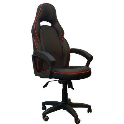 Офисное кресло Сарос Алонсо черный с красным кантом