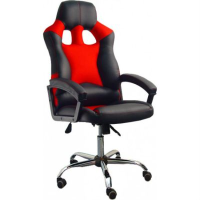 Офисное кресло Сарос Дик хром черный/красный