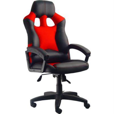 Офисное кресло Сарос Дик пластик черный/красный