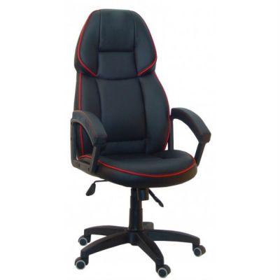 Офисное кресло Сарос Адмирал 2 пластик черный с красным кантом