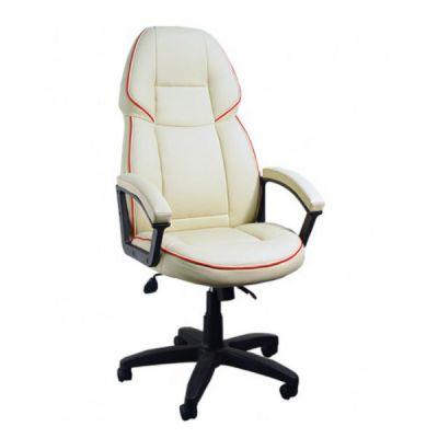 Офисное кресло Сарос Адмирал 2 пластик бежевый с красным кантом