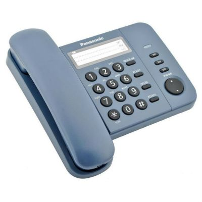 Телефон Panasonic проводной KX-TS2352RUC (синий)
